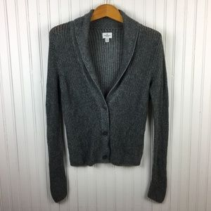 American Eagle Outfitters Loose Knit Cardigan Gray